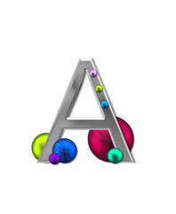 Alphabet Metal Marbles A