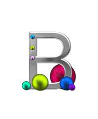 Alphabet Metal Marbles B