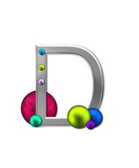 Alphabet Metal Marbles D