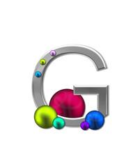 Alphabet Metal Marbles G