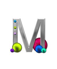 Alphabet Metal Marbles M