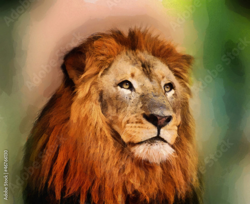Royal King Lion Portrait Painting