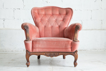Pink Armchair sofa