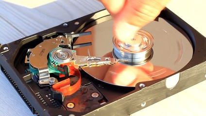 Water damaged hard disk drive - Inside of the HDD