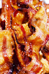 Closeup of Bacon Slices