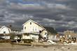 Leinwanddruck Bild - Hurricane Sandy desrtruction