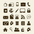 Retro business icons