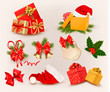 Big set of Christmas icons and objects. vector