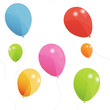 Colored balloons seamless pattern, vector illustration. Eps 10.