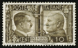 stamp with Hitler and Mussolini