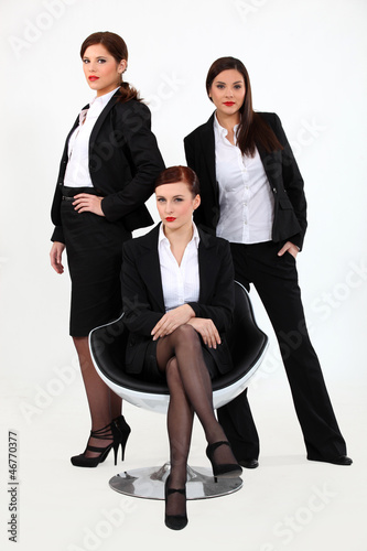A team of businesswomen