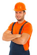 Cheerful worker man