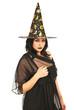 Beautiful witch woman