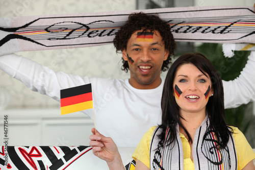 Two German soccer fans