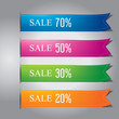 colorful ribbon banner design vector
