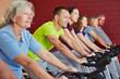 Spinningkurs im Fitnesscenter