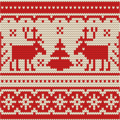 Sweater with deer, seamless pattern