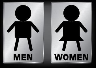 Vector Men and Women restroom sign