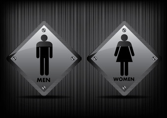 Vector Men and Women restroom sign