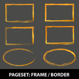 PAGE set Frame Border Gold