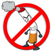illustration of No smoking sign cartoon