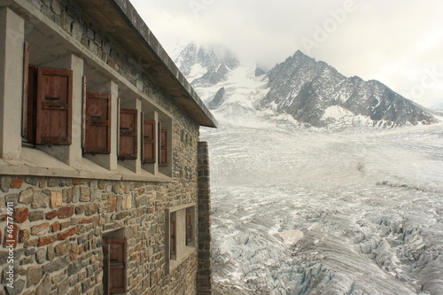 Albert Premier Hut near glacier du Tour in French Alps