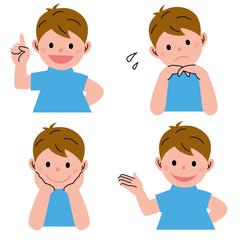 男の子 表情