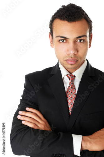 A portrait of a businessman standing