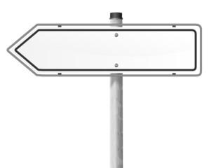 Schild Richtung weiß