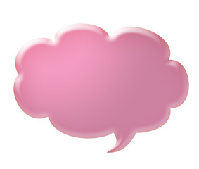 3d pink speech bubble