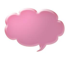 3d pink speech bubble