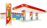 car petrol station vector illustration - 46776316