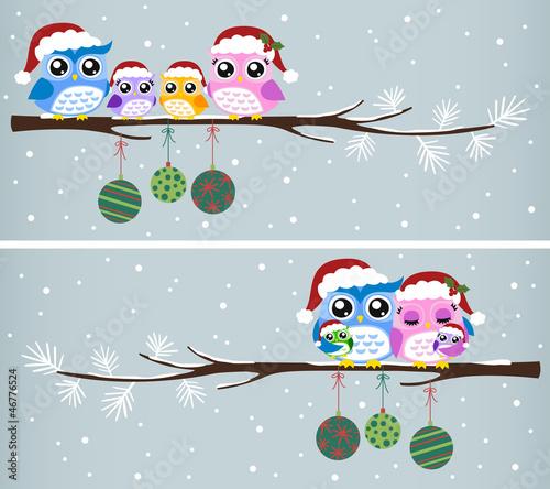 Fototapeten,winter,weihnachtsmann,weihnachten,eulen