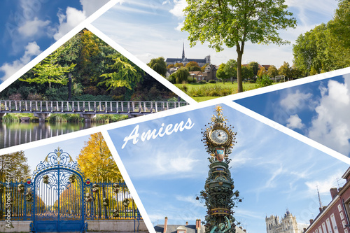 Composition de photos de la ville d'Amiens