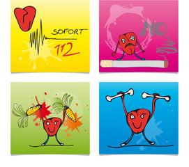 post-it - Notiz - Botschaft - Nachricht - Herz - Gesundheit
