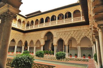 Sevilla real alcazar fassade