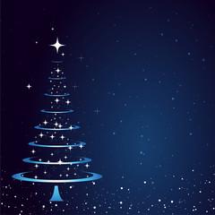 Weihnachtsbaum Abstrakt Karte Hintergrund