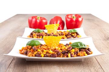 Chili con carne / Chili con soja