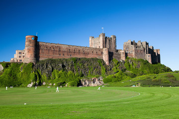 Bamburgh Castle and cricket course