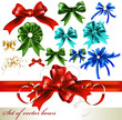 Collection of vector realistic bows