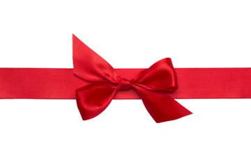 rote Schleife mit Schleifenband