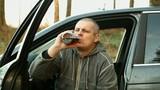 Drunk man drive a car