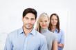 motiviertes team im büro