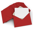 Correspondence in red