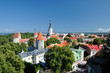 Top view on old city in Tallinn Estonia