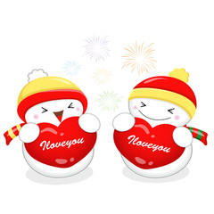 Snowman Mascot the event activity. Christmas Character Design Se