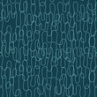 Seamless abstract pattern with curly lines. Vector illustration