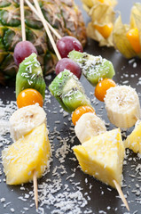 Coconut Fruit Skewer