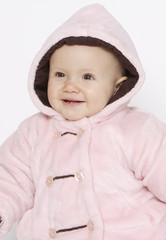 niemowle w kurtce