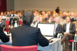 Leinwanddruck Bild - lettura a convention,riunione,dibattito